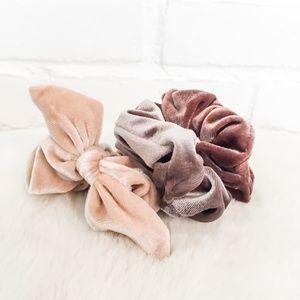 🍁NWOT 3 Pack Fall Velvet Scrunchies